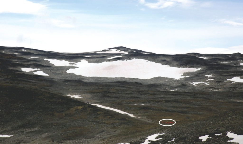 The main ice patch at Lauvhøe.